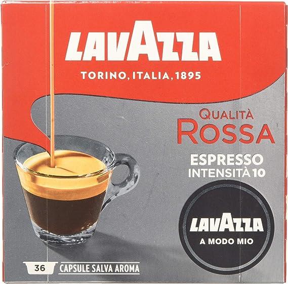 Lavazza A Modo Mio Qualità Rossa Coffee Pods Espresso 36 Capsules