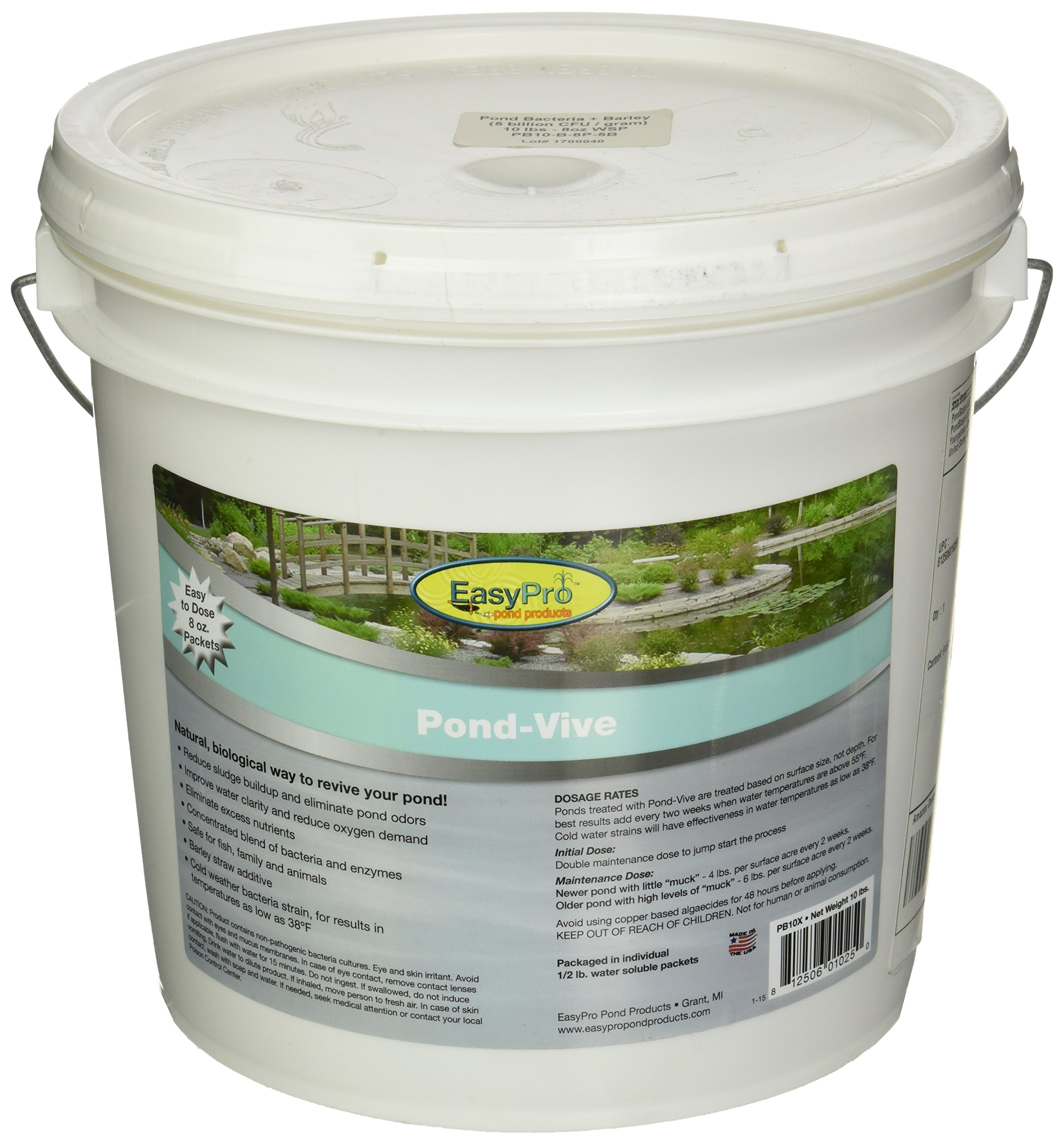 EasyPro Pond Products PB10X 20 Count Pond-Vive Bacteria X Water Soluble Supplement, 8 oz by EasyPro Pond Products