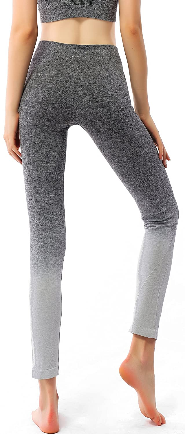 c26980060ee8b Amazon.com: RUNNING GIRL Ombre Yoga Pants Ultrasoft Performance Active  Stretch High Waisted Running Leggings: Clothing