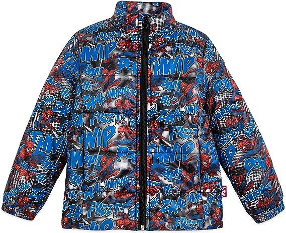 Boys Marvel Ultimate SpidermanJacket Kids Padded Winter  Jacket Hooded 5-6 Years