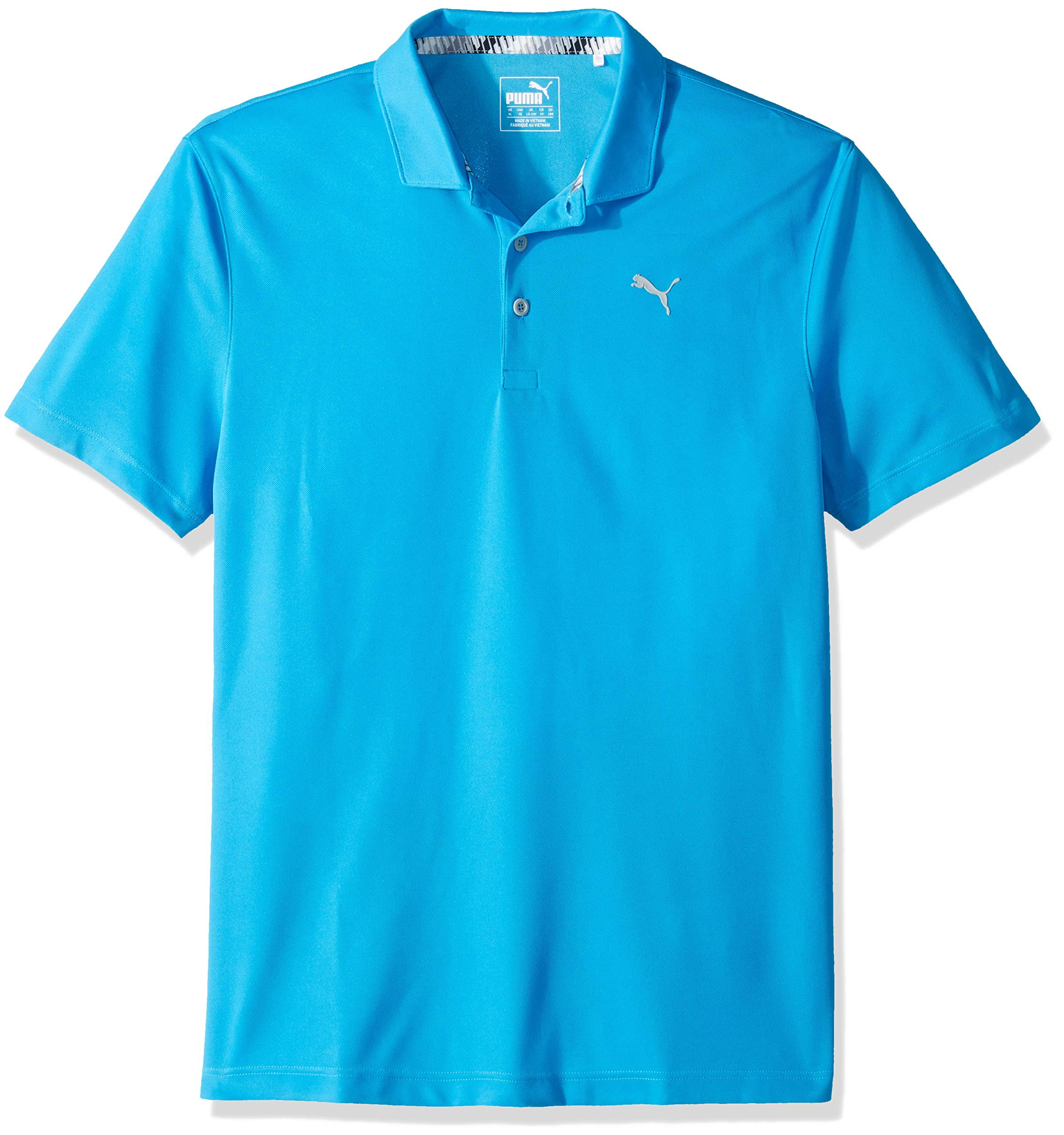 Puma Golf Boys 2019 Polo, Bleu Azure, Large by PUMA