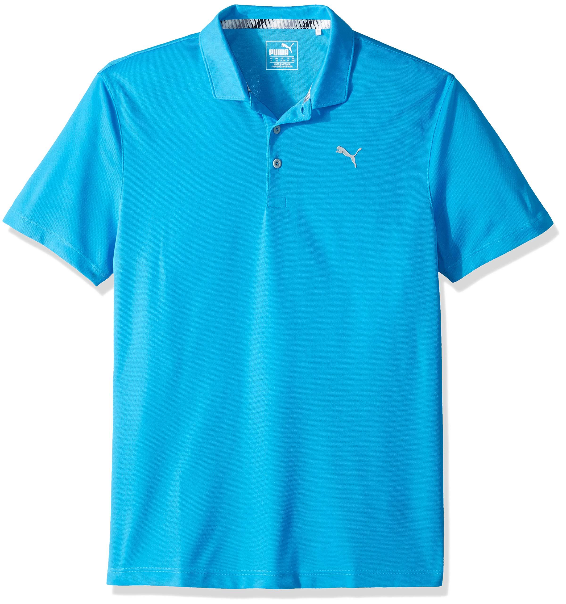 Puma Golf Boys 2019 Polo, Bleu Azure, x Small