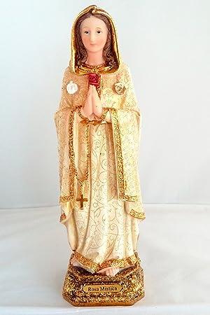 12 Inch Statue Rosa Mistica Mystica Religious Figurine Estatua Maria Mary