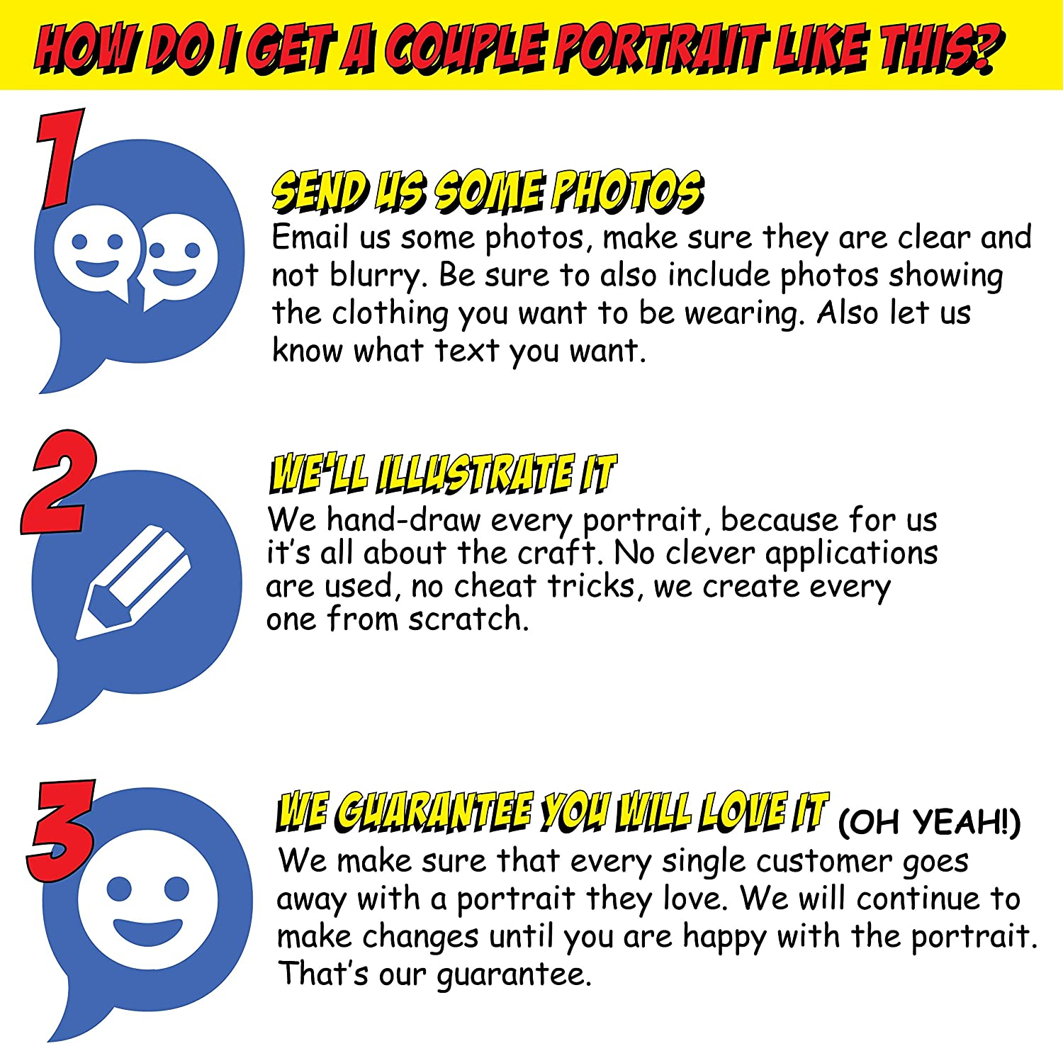 Cute Funny Surprise Ideas Customized Cartoon Portrait Of Couple Romantic Anniversary Gifts For Wife