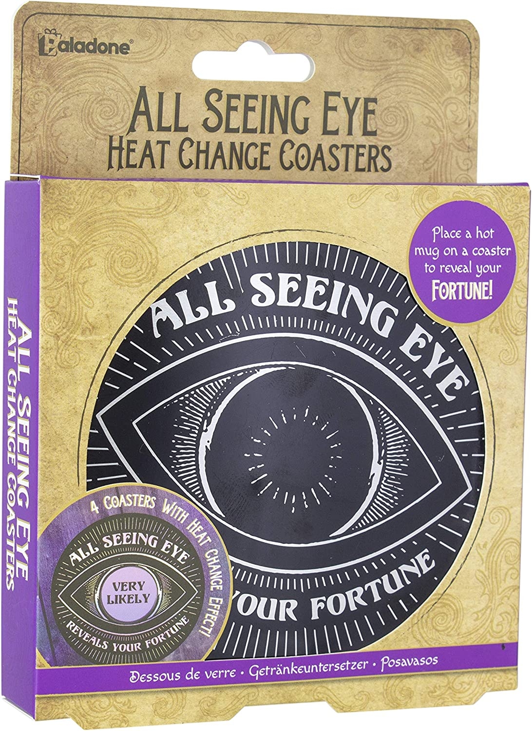All Seeing Eye Coasters - Heat Changing Coasters that Reveal Your Fortune