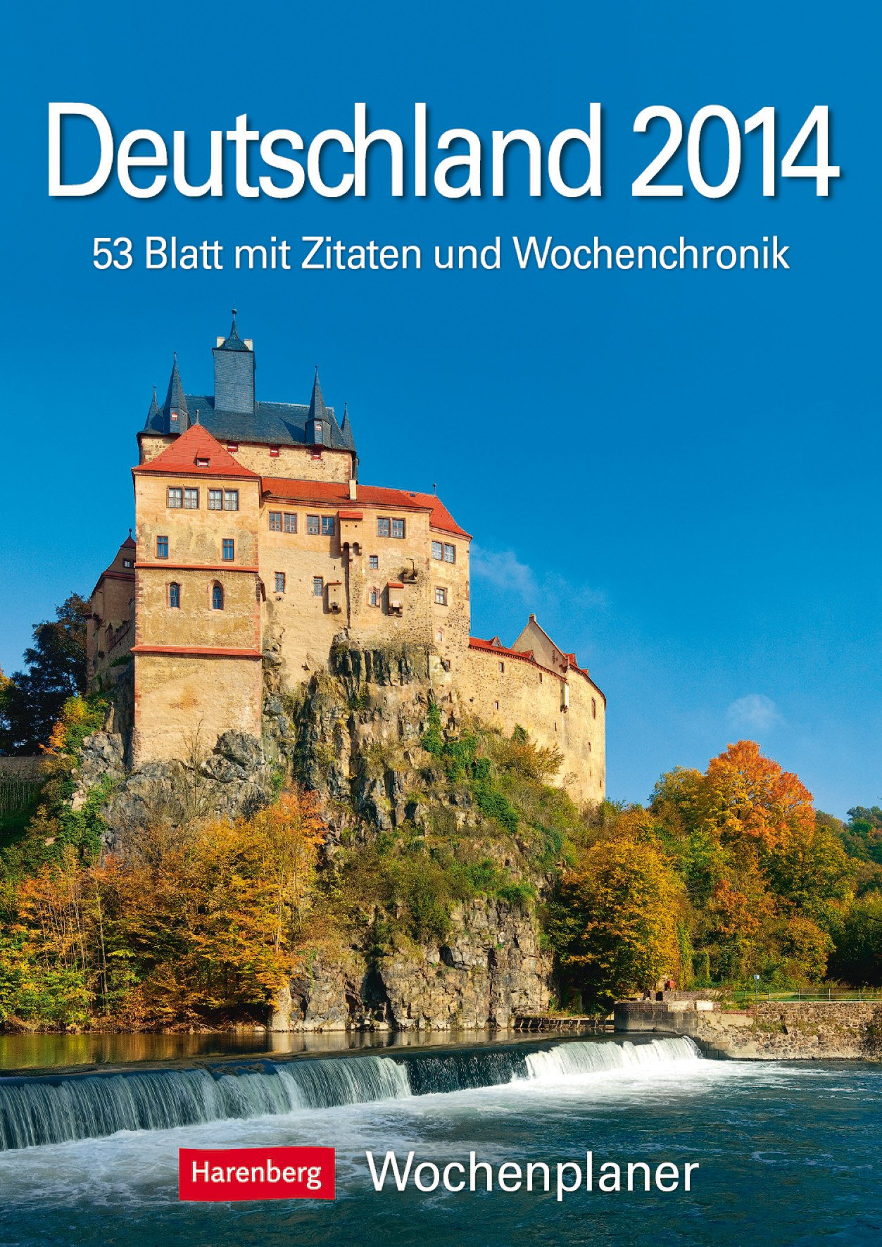 Deutschland 2014: Harenberg Wochenplaner. 53 Blatt mit Zitaten und Wochenchronik