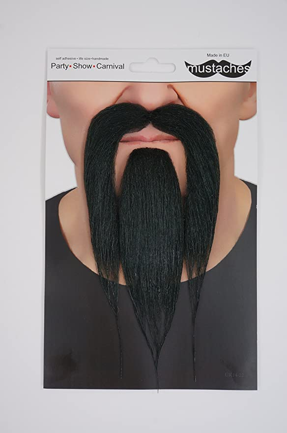 Self Adhesive Fake Moustache Mustache SNAKE SHAPED Halloween Fancy Dress Party