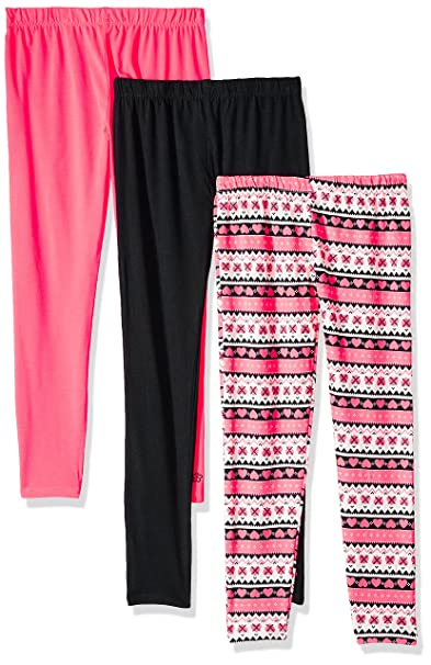 e5a23430cd906 Limited Too Girls' Big 3 Pack Knit Leggings (More Styles Available), Multi