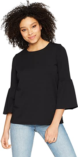 Image result for kensie Women's Stretchy Crepe Bell Sleeve Top