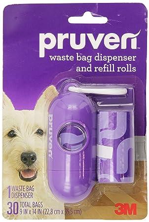 Pruven pwbd-pw30 residuos dispensador de bolsas y rollos de recambio para mascotas, 9