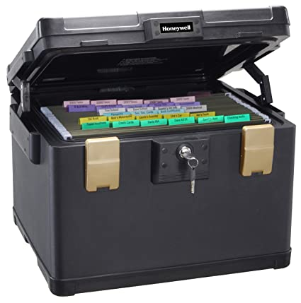Home Security Chest Safe Fireproof File Box A4 Storage Office Paperwork Lockable