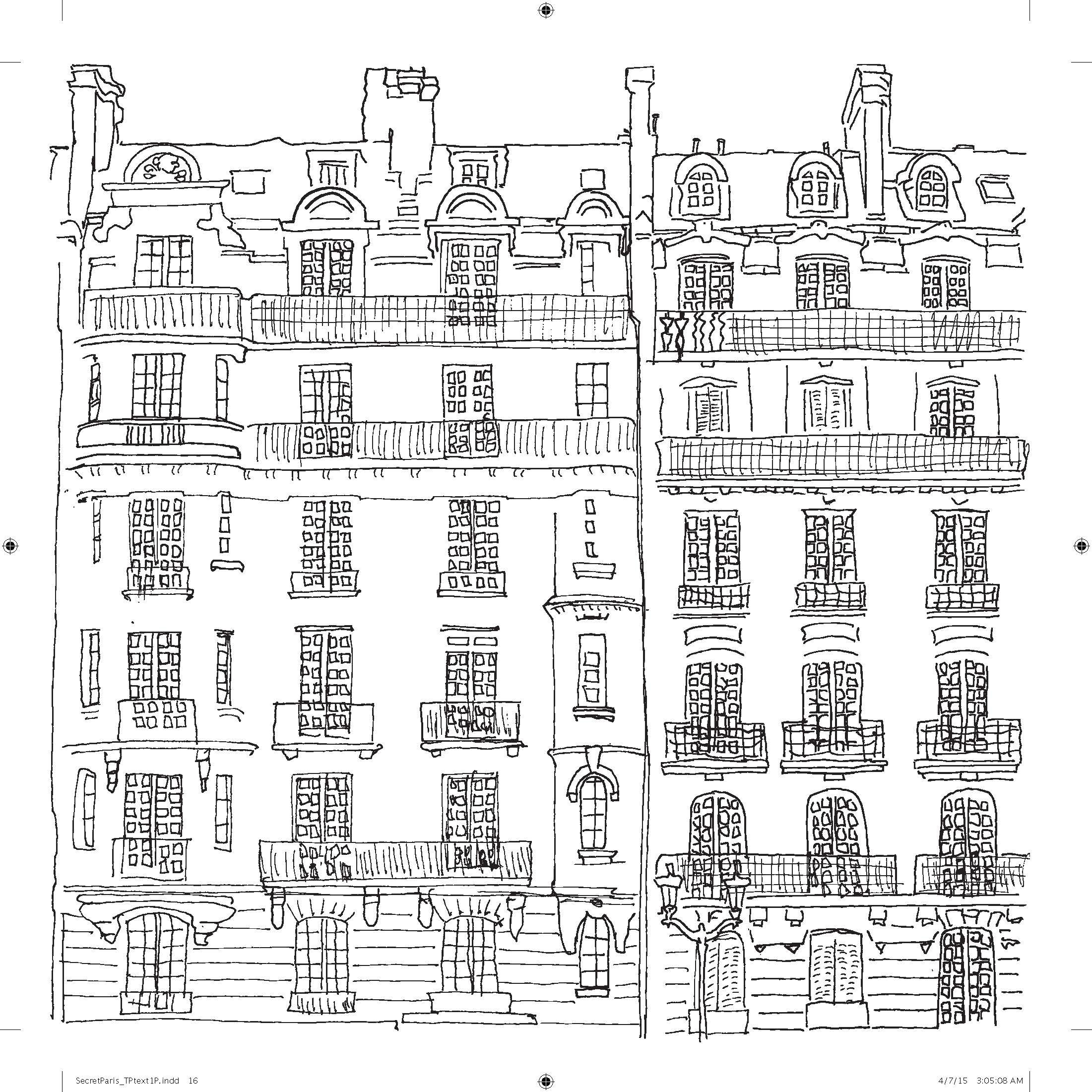 Free coloring pages new york city - Secret Paris Color Your Way To Calm Zoe De Las Cases 9780316265829 Amazon Com Books