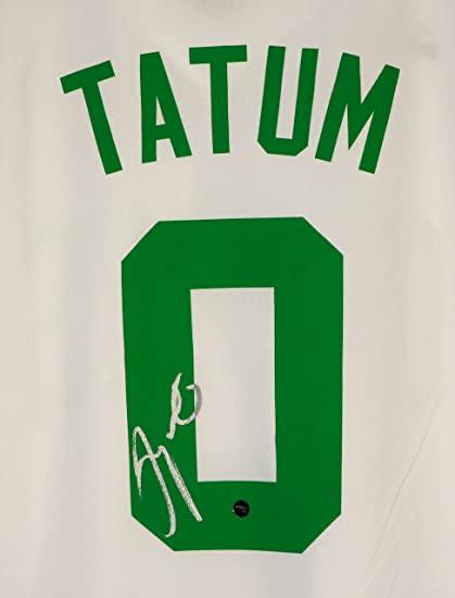 low priced 827e7 1ec64 Jayson Tatum Boston Celtics Signed Autographed White #0 ...