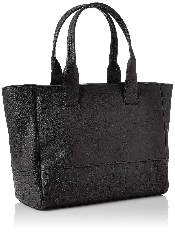 5f3f65ab52 Calvin Klein Maddie Sac à main pour femme Grand format - noir - noir,  Taglia unica EU: Amazon.fr: Chaussures et Sacs