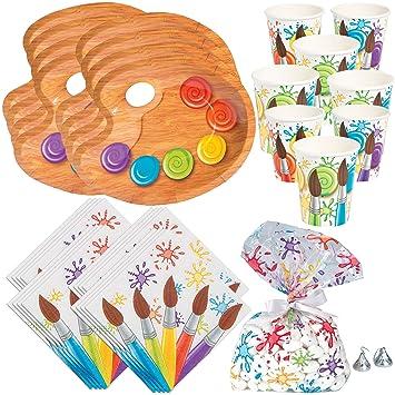 Amazon.com: Divertido juego de platos de fiesta de arte ...
