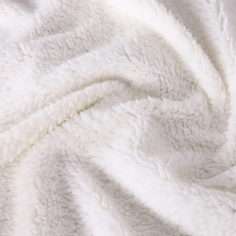 Sleepwish Sherpa Hooded Blanket 50x60 Super Soft Kid Fleece Blanket Black Blankets with Hoods Boho Neon Henna Elephant Design