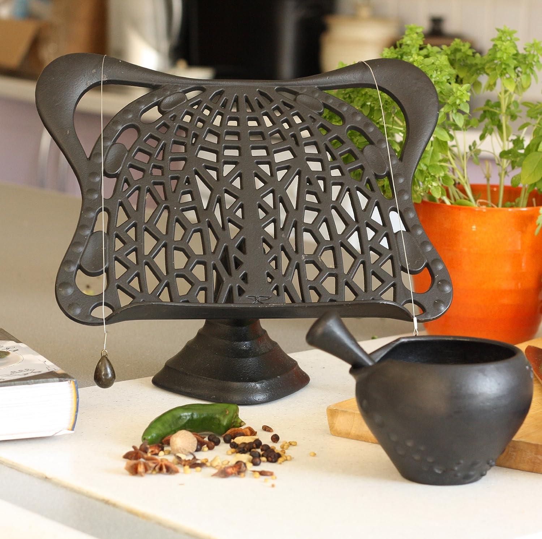 bexsimon cast iron cook book stand black kitchen