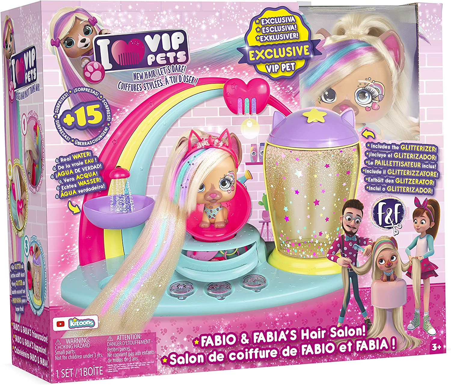 Amazon Com Imc Toys Vip Pets Fabio Fabia Hair Salon Playset Toys Games