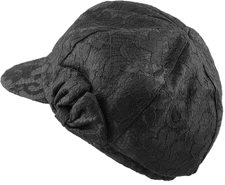 Women/'s Cool Flower Mesh Pattern  Applejack Beret Newsboy Hat
