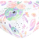 """Premium Fitted Cotton Crib Sheet / Toddler Sheet """"Bloom Floral"""" by Copper Pearl"""