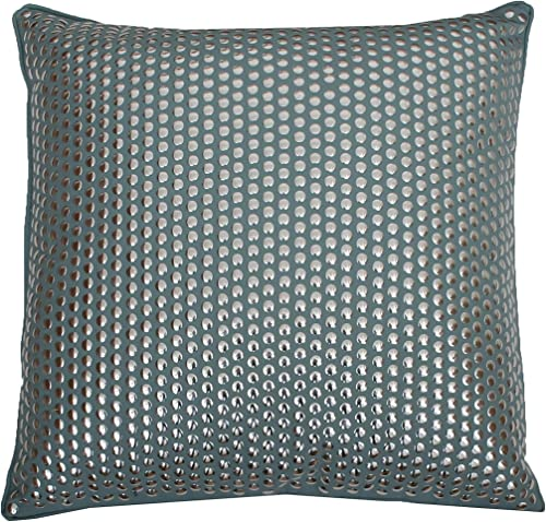 Thro by Marlo Lorenz Odom Studded Pillow, Nile Blue