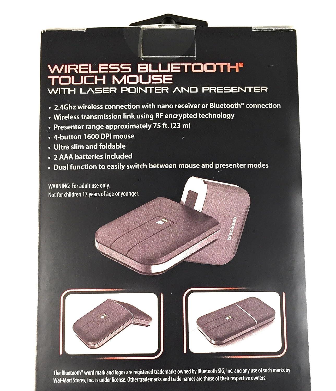 Blackweb New Wireless Bluetooth Mouse Laser Pointer Ultra Slim Foldable  Presenter