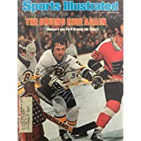 $99 » Gerry Cheevers & Brad Park Signed Sports Illustrated May 9 1977 - Autographed NHL Magazines