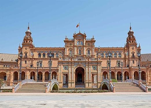 Cumple con 7 x 5ft ciudad Landmark telón de fondo Plaza de España ...