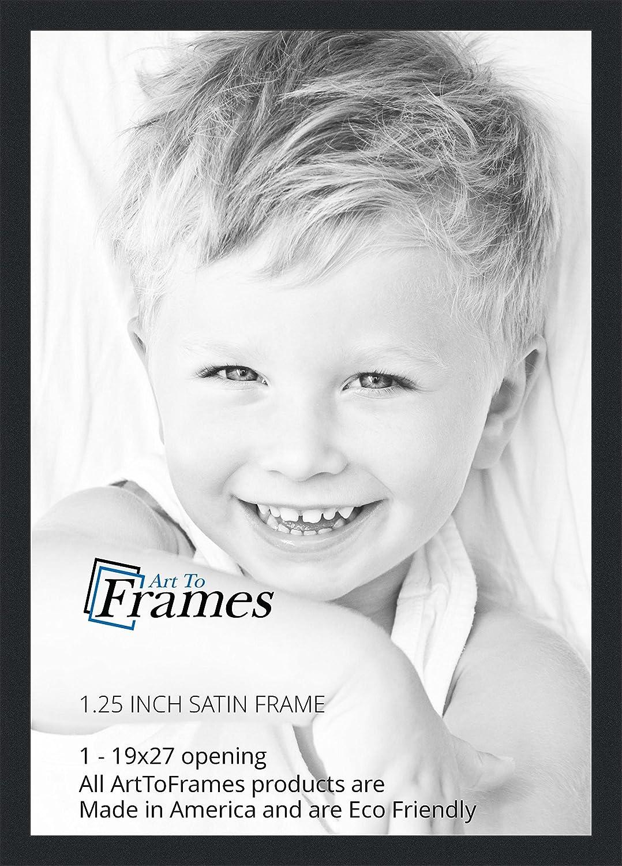 Amazon.com - ArtToFrames 19x27 inch Satin Black Picture Frame ...