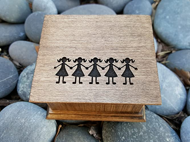 Amazon Custom Engraved Music Box With Sisters Engraved On The