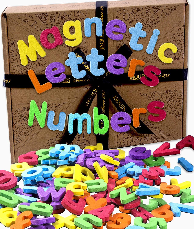 Jaques de Londres. Letras y números magnéticos. Imanes de Nevera para niños. Juguetes educativos niños de 12 a 13 años Desde 1795.