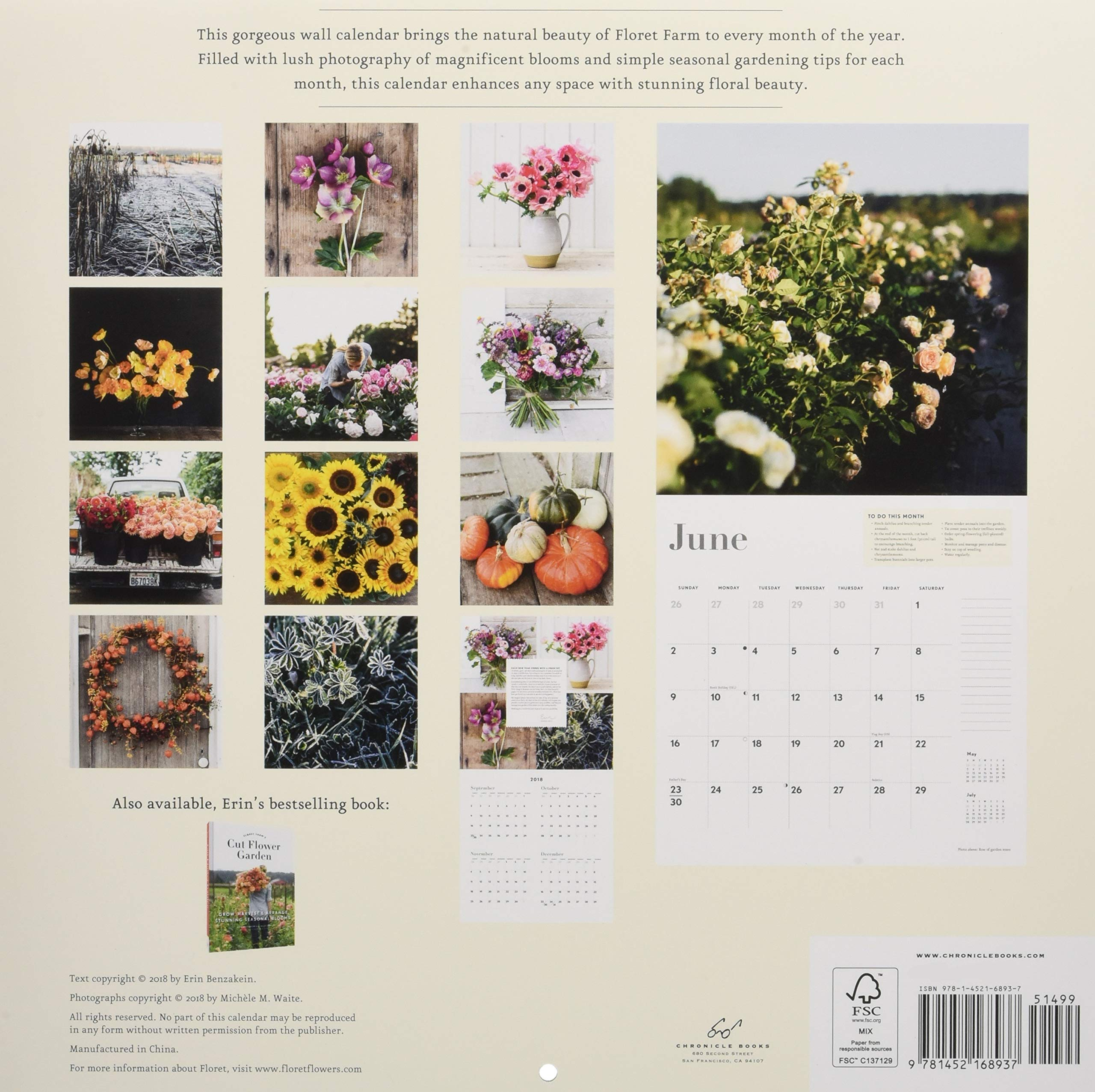 Amazon Com Floret Farm S Cut Flower Garden 2019 Wall Calendar