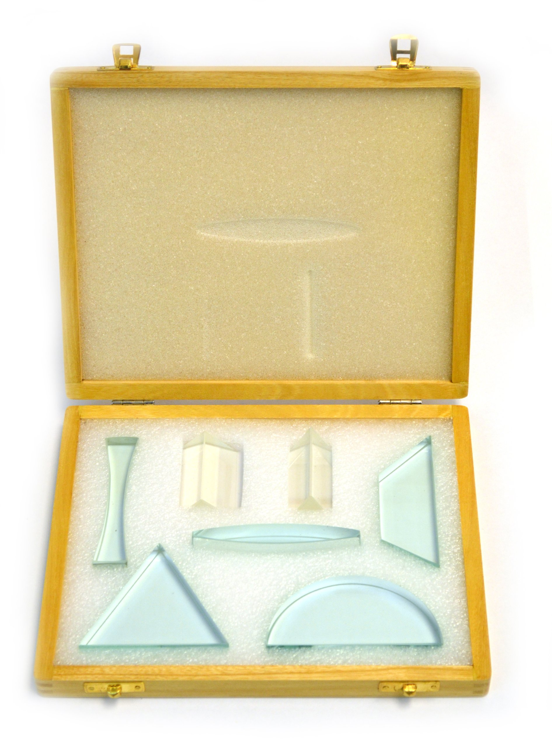 Eisco 7 Piece Glass Prism Set: 0.5'' (approximately 13mm) thickness