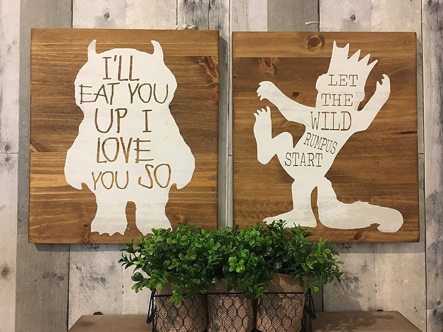 Amazon.com: Where The Wild Things Are Baby Shower, I'll you up I love you  so, nursery art, king of all wild things, Where the wild things are  birthday: ...