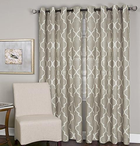 Elrene Home Fashions Medalia Room Darkening Geometric Window Curtain Panel
