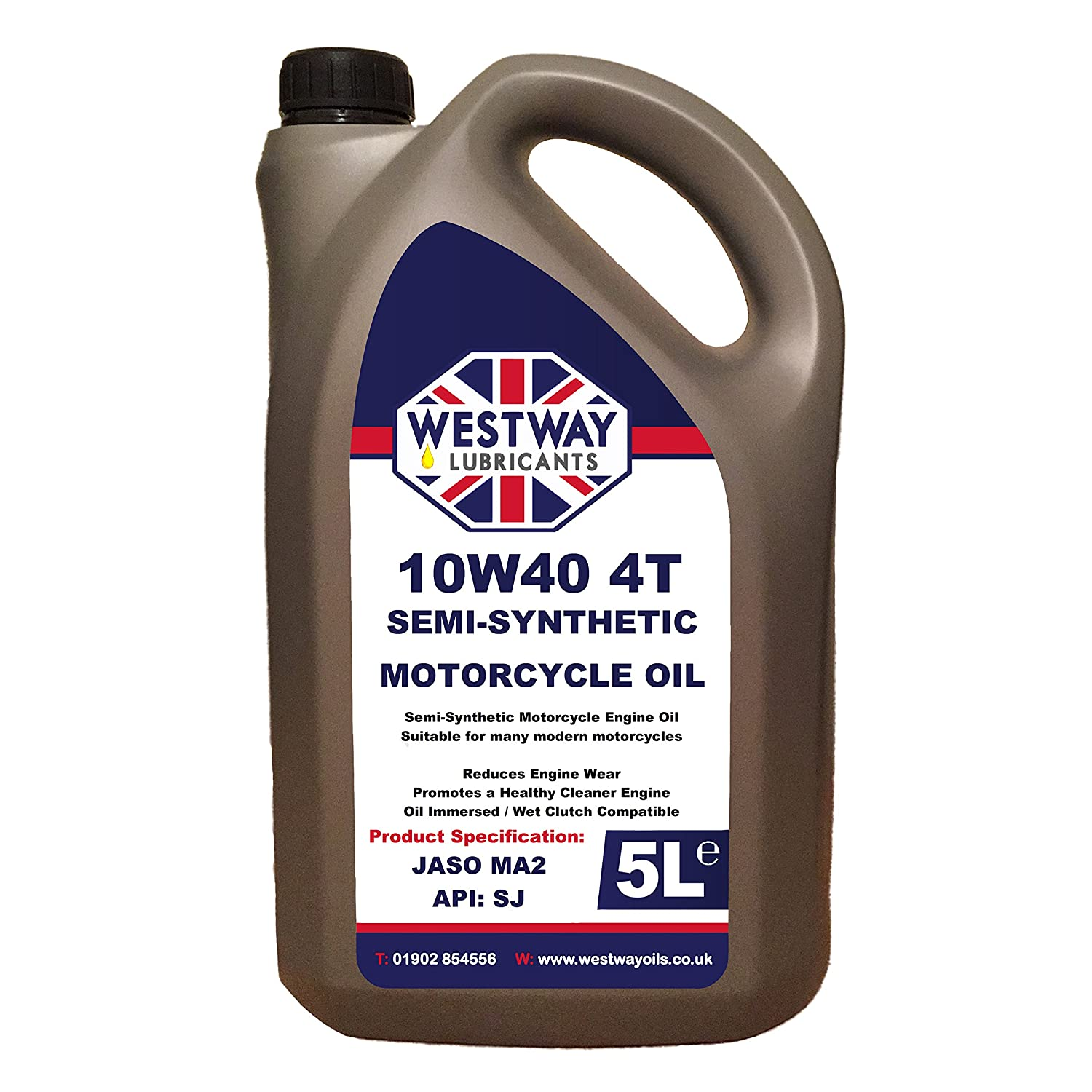 10w40 Motorcycle Oil Semi-Synthetic 5L 5 Litres Westway Lubricants