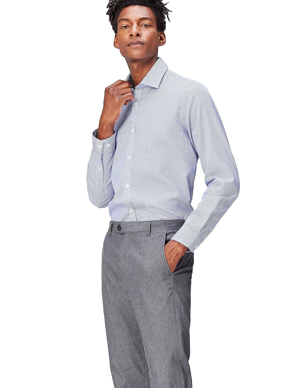 FIND Camicia con Micro Stampa Slim Fit Uomo