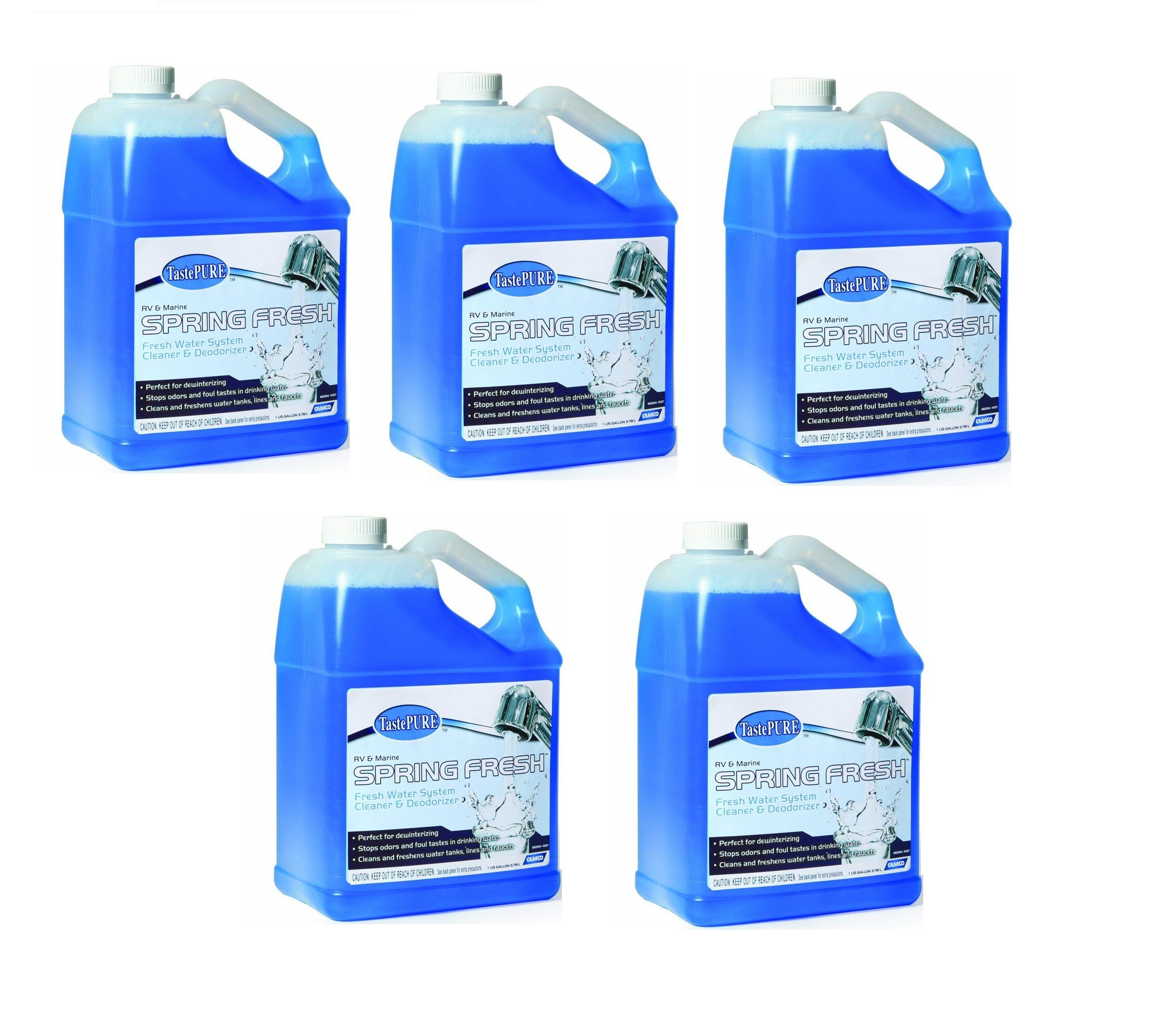 Camco  40207 TastePURE Spring Fresh Water System Cleaner and Deodorizer - 1 Gallon (5) by Camco