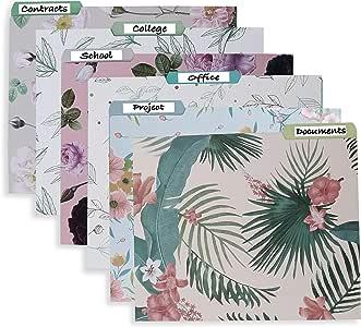 Belle Vous Carpetas de Archivos Decorativas 500GSM (Pack de 12 ...