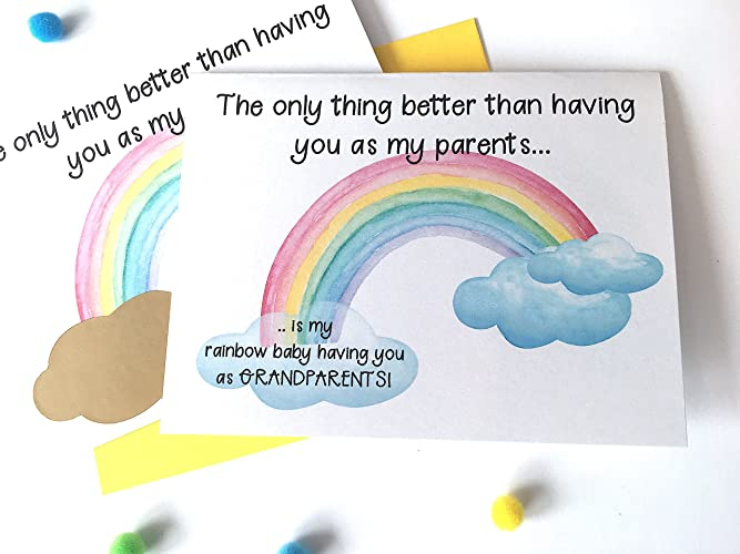 amazon com miracle rainbow baby pregnancy announcement card for