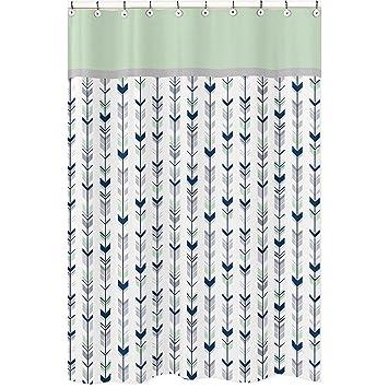 Sweet Jojo Designs Grau, Navy Blau Und Mint Woodland Pfeil Mädchen Oder  Jungen Kinder Badezimmer
