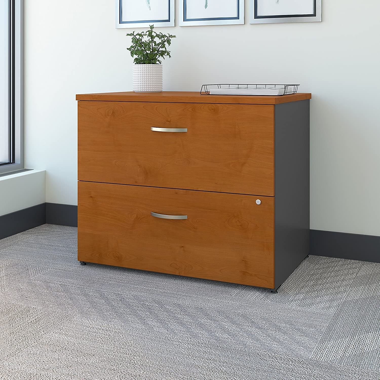 Bush Business Furniture Series C Lateral File Cabinet in Natural Cherry