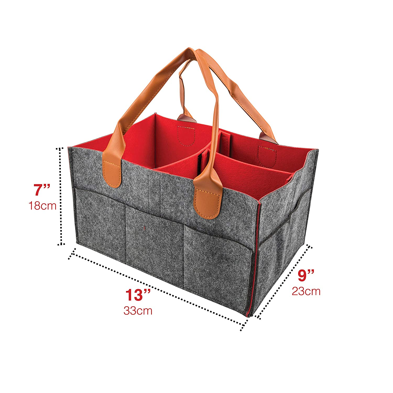 d3322148f7 ... Baby Diaper Caddy Organizer for Nursery Essentials - Baby Joey Storage  Bin for Changing Table
