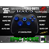 Epic Modz Xbox 360 Custom Blue Wireless Controller Cod Mod Call Of Duty, Battlefield + More !!
