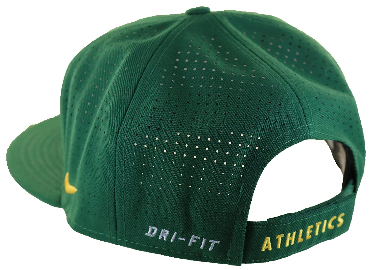a3c55a4bef2 Amazon.com  Nike Men s Oakland A s Perforated Dri-FIT Adjustable Cap One  Size Green Yellow  Sports   Outdoors