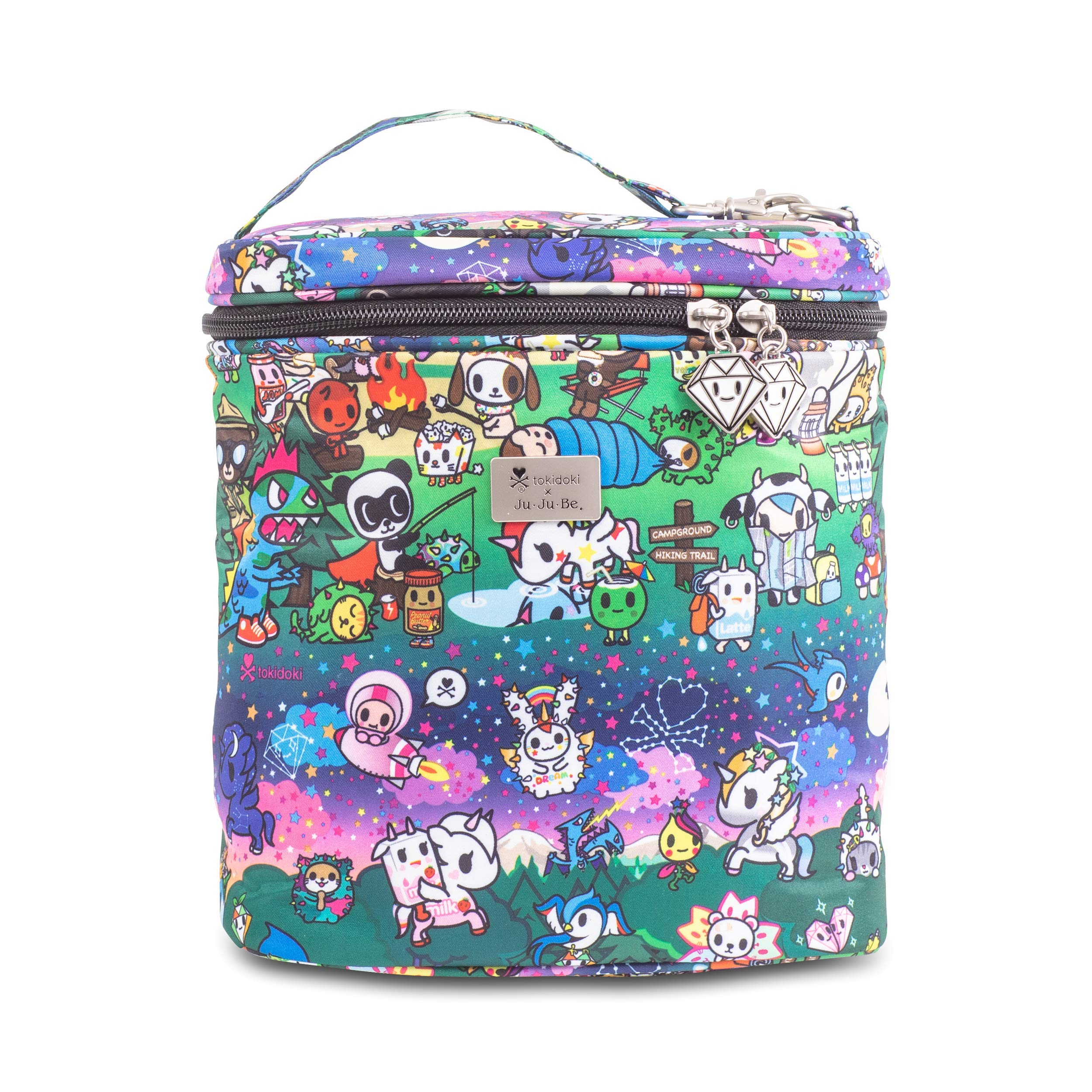 JuJuBe x Tokidoki Lunch Bag, Fuel Cell | Portable, Travel Friendly, Insulated, Reusable Stylish Lunch Tote | Camp Toki by Ju Ju Be