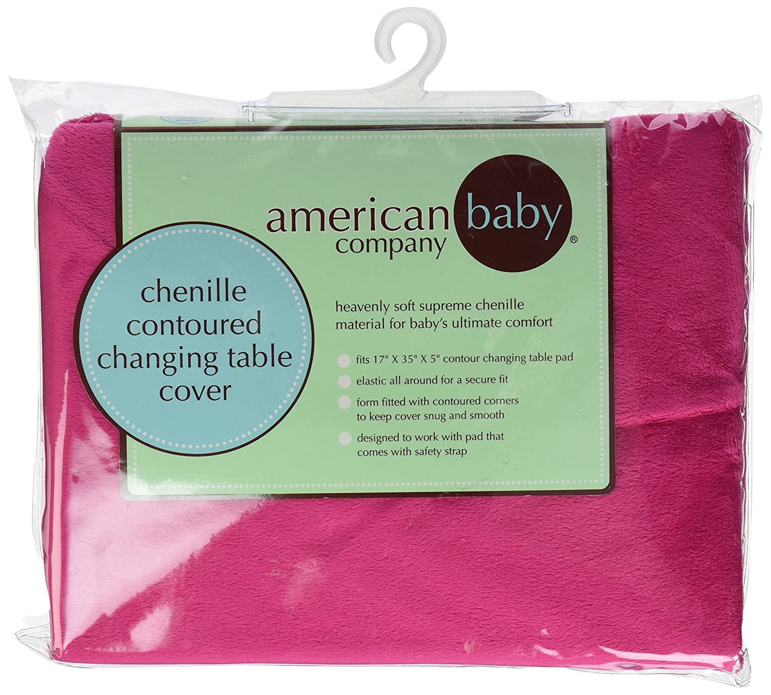 American Baby Company Heavenly Soft Chenille Fitted Contoured Changing Pad Cover,Ecru for Boys and Girls