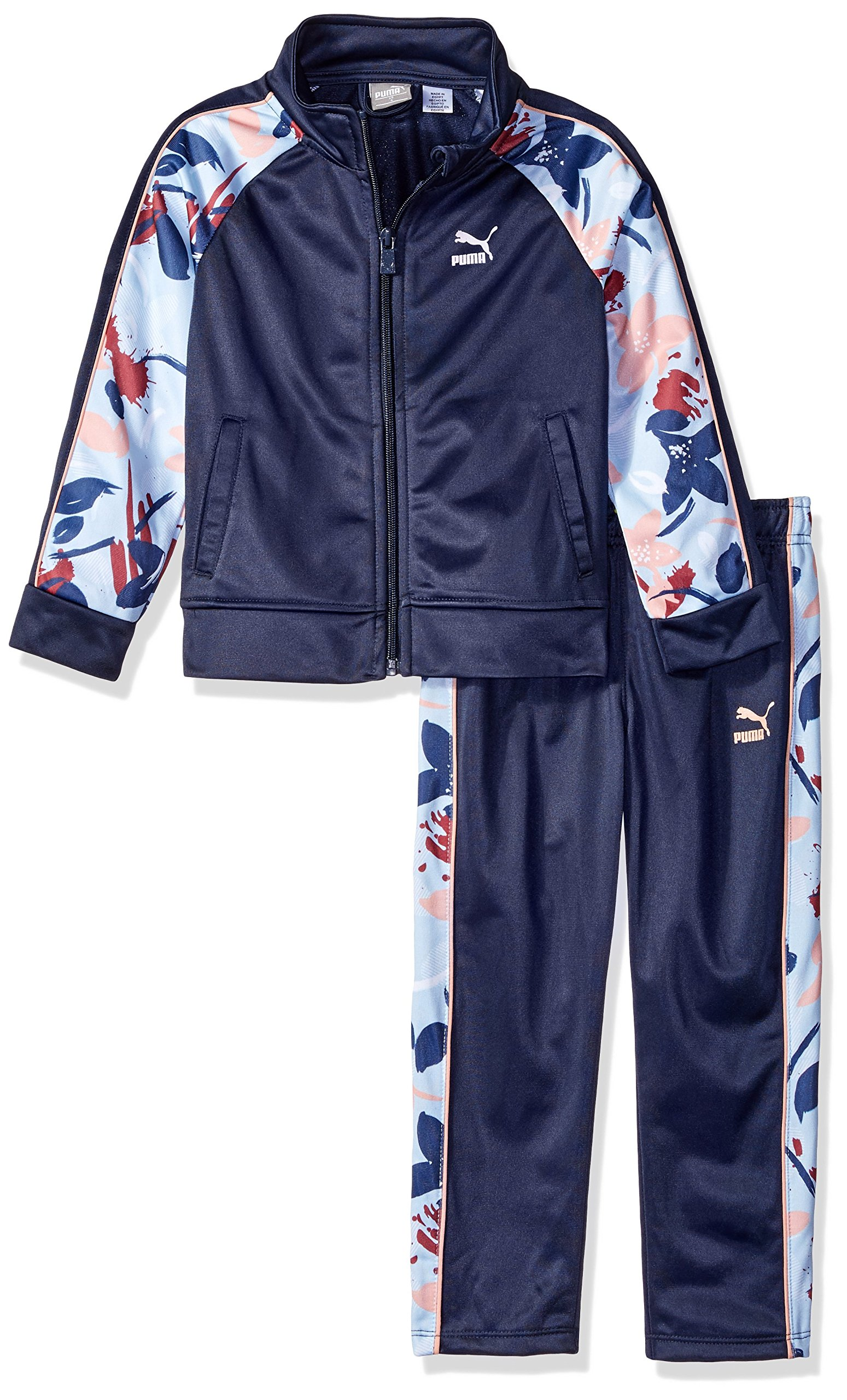 PUMA Little Girls' Track Set, Peacoat, 5 by PUMA