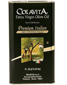 Colavita Premium Italian Extra Virgin Olive Oil Tin, 3 Litres