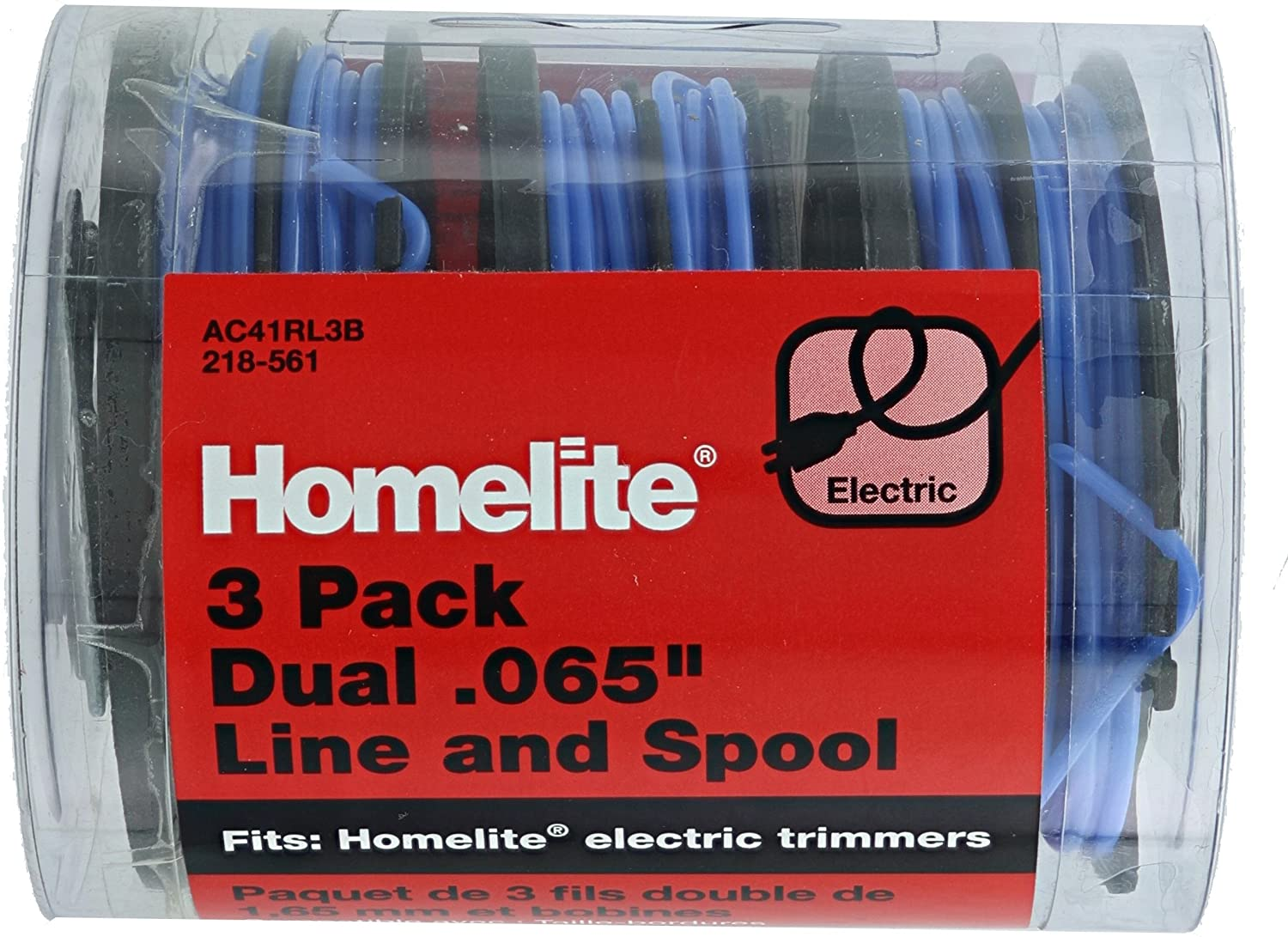 """HOMELITE Dual Trimmer Line and Spool .065/"""" 3 Pack"""